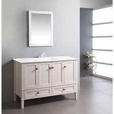 48 inch white bathroom vanity. Windham Soft White 48-inch Bath Vanity With 2 Doors, Bottom Drawer And 48 Inch Bathroom R