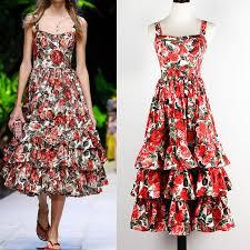 top 10 new fashion rose print <b>summer beach</b> dress women brands ...