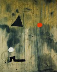 created in 1925 by artist joan miró this painting represents the amorphous beginnings of life