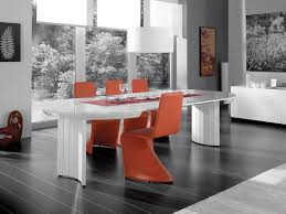 extending contemporary white high gloss dining table thumbnail