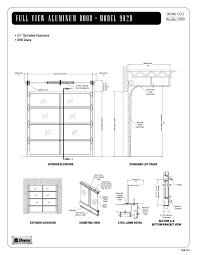 single car garage door opening size for inspire garage doors