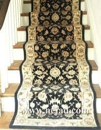 oriental rug runners rugs handmade wool design runner in navy and ivory installed on staircase antique persian carpet