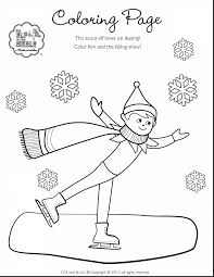 Elf On The Shelf Coloring Pages For Kids With Elf On The Shelf