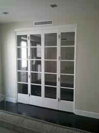 glass doors bi fold simple