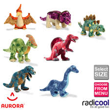 aurora dinosaurs plush soft cuddly toys sizes 22 to 45cm children s gifts