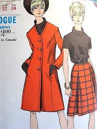 mod coat skirt and blouse pattern vintage sewing patterns from 1920s through 1980s
