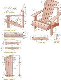 drawing furniture plans. adirondack chair drawing furniture plans a