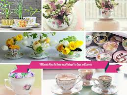 Decorating With Teacups And Saucers 100 Cool Ways To Repurpose Vintage Tea Cups and Saucers 4