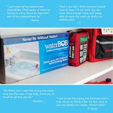waterbob bathtub emergency drinking water storage