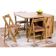 drop leaf kitchen table drop leaf dining table with folding chairs rustic oak five piece dinette