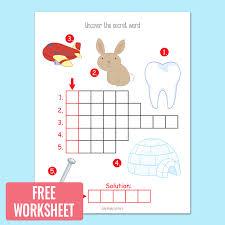 Picture Crossword Puzzles - Kindergarten and Grade 1 Worksheets ...