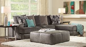 gray living room furniture. Foster Square Graphite 2 Pc Sectional Gray Living Room Furniture