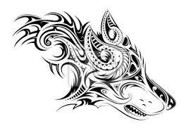 Fototapeta Elegantní Tetování Vlka