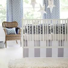 navy and gray scales crib bedding