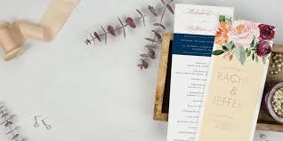 Wedding Program Designs Wedding Programs 100 Free Customized Samples