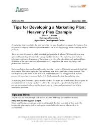 Simple Marketing Plan Format – Mealsfrommaine.org