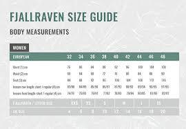 Fjallraven Size Chart Us