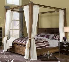 I want!!! California king canopy bed!- Someday... huge old school ...