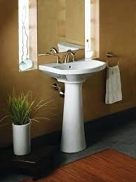 new bathroom pedestal sinks for almond 82 small pedestal sink uk