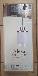 progress lighting alexa collection 1 light brushed nickel mini pendant 1 of 2only 4 available