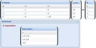system equations solver mathstools