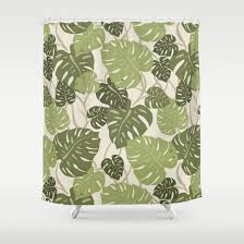 innovative hawaiian shower curtains designs with cliff hanger monstera leaf hawaiian print shower curtain drive