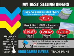 Selling Flyers Best Selling Print Offers Morecambe Flyers Trade Print