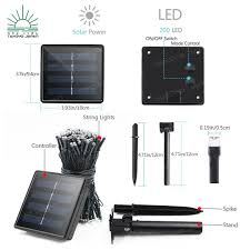 Solar Lights With On Off Switch Shiroi Solar Christmas Lights White 100 Led 10meters Buy 1 Get 1 Free