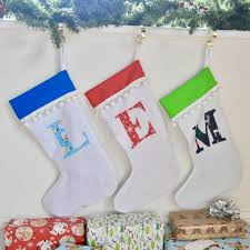 personalised initial christmas stocking by what katie did next ...