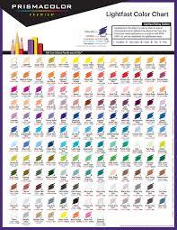 Prismacolor Art Markers Color Chart Prismacolor Premier Colored Pencils