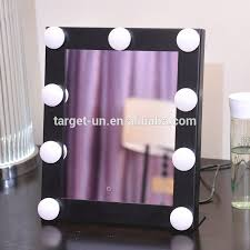 2017 hollywood led lighted countertop vanity comestic mirror hollywood desktop makeup mirror with light bulbs