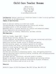 Day Care Resume Sample Daycare Resume Resume Creator Simple Source