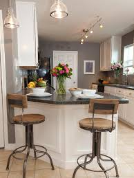 Galley Kitchen With Breakfast Bar Table Accents Ice Makers