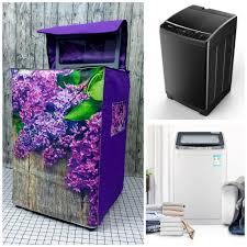 Áo Trùm Máy Giặt Cửa Trên VÀ Trước Loại Dày Lớn 8kg - 11kg (mẫu hoa tím)  tại TP. Hồ Chí Minh