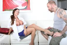 Female doctor giving handjob