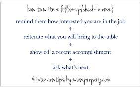 Follow Up Email Job Interview How Write A Recent Add After An