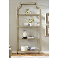 amazon pemberly row gl bookcase in antique gold kitchen dining