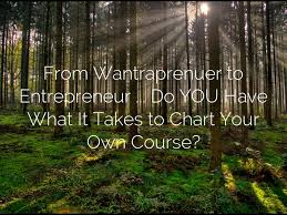 From Wantraprenuer To Entrepreneur Do You Have