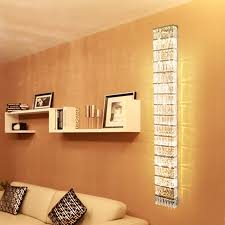 Lighting sconces for living room Remote Control Wall Living Room Wall Lights For Home Led Wall Sconce Modern Crystal Wall Lamps Hallway Long Wall Aliexpress Living Room Wall Lights For Home Led Wall Sconce Modern Crystal Wall