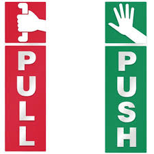 pull door sign. Brilliant Pull Push And Pull Door Window 2 Option Vinyl Decal Information Warning Note  Sticker On Sign P
