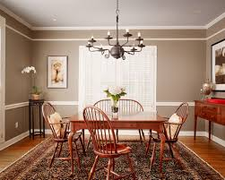 Two Tone Wall With Chair Rail And Dark Hardwood Dining Room - Dining room color ideas with chair rail