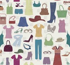Pattern Sale Adorable Fashion Cloth Seamless Pattern Women Clothes And Accessories