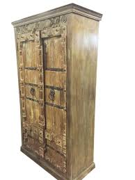Antique Wardrobe Old Doors Indian Furniture Iron Storage Cabinet