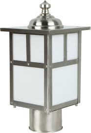 craftmade z1845 56 mission craftsman stainless steel exterior post light fixture loading zoom
