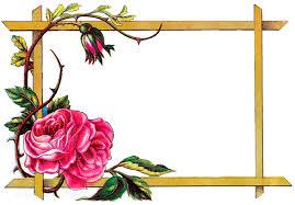 rose fl clipart craft digital flower border frame image