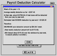 Pay Deduction Calculator Opentaxsolver Payroll Deduction Calculator
