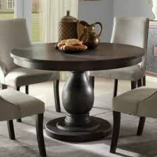 homelegance dandelion round pedestal dining table in distressed taupe 2466 48 from beyond s