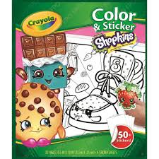 Coloring Crayola Shopkins Color N Sticker Bookonly Available