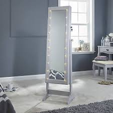 cheval mirror jewellery armoire with