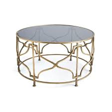 gold open gold geometric base coffee table